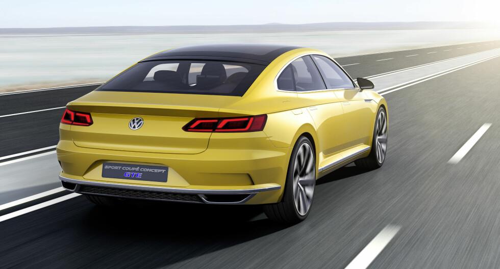 CC RIDER: VW hevder det er ganske radikal ny design - vel, det er det ikke. Sjekk Passat CC. Foto: VOLKSWAGEN