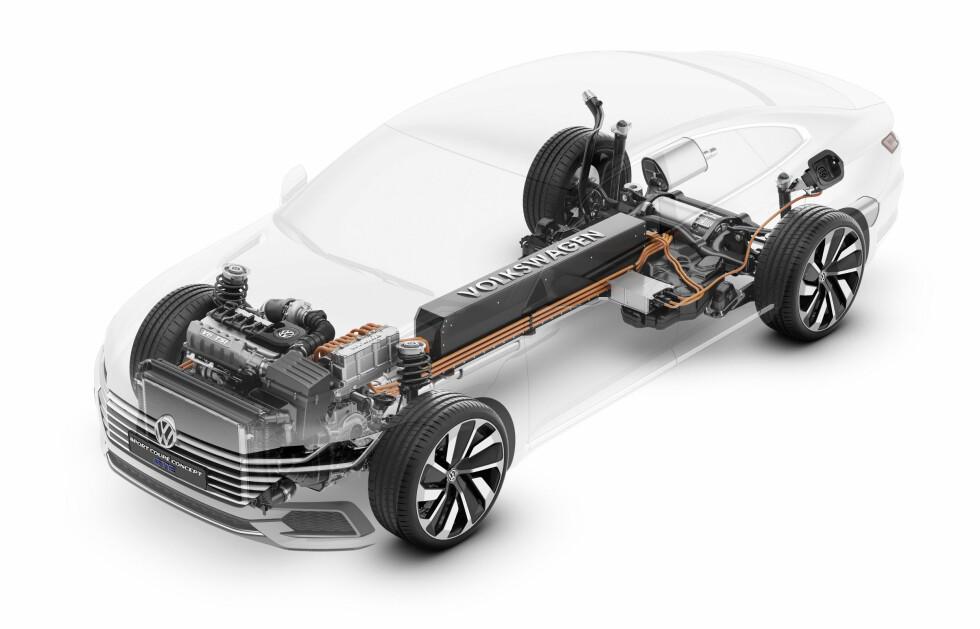 TRE MOTORER: Slik er innmaten i VW Sport Coupé. Foto: VOLKSWAGEN