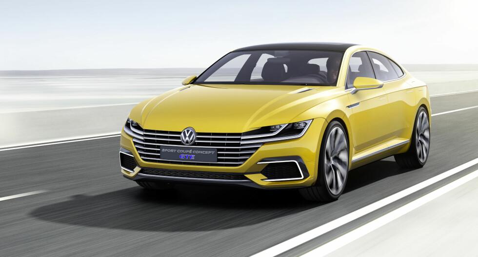STRIPETE: Det er en design-idé som er ny her, men Volkswagen fornekter ikke sitt grunnleggende formspråk. Foto: VOLKSWAGEN