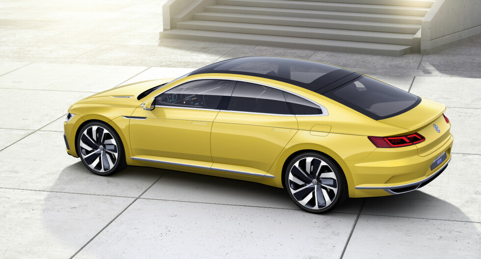 AUDI ELLER VW? Joda, enkelte designdetaljer er typisk VW. Dessuten er Audi A7 basert på en annerledes og eldre plattform. Foto: VOLKSWAGEN