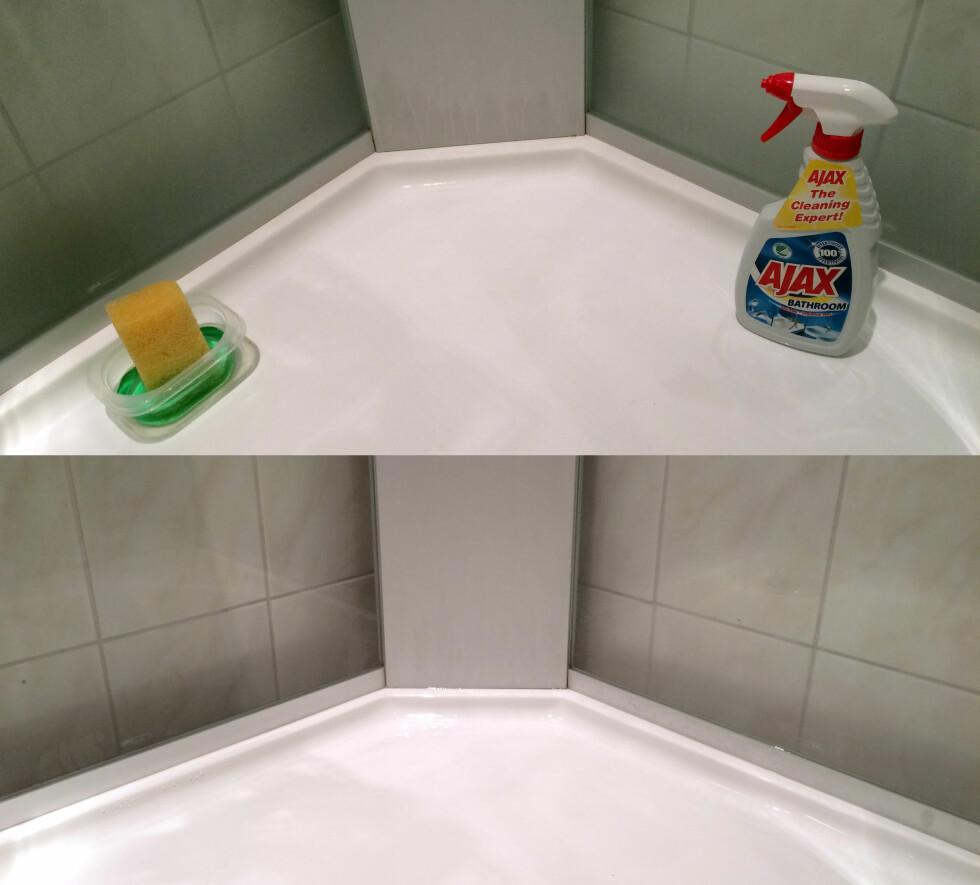 FØR OG ETTER: Før (øverst) og etter vask (nederst). Foto: KRISTIN SØRDAL