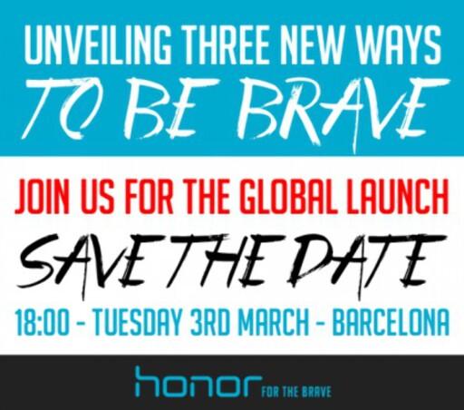 TRE: Vi regner med at «Three ways to be brave» handler om tre nye telefoner fra Honor.