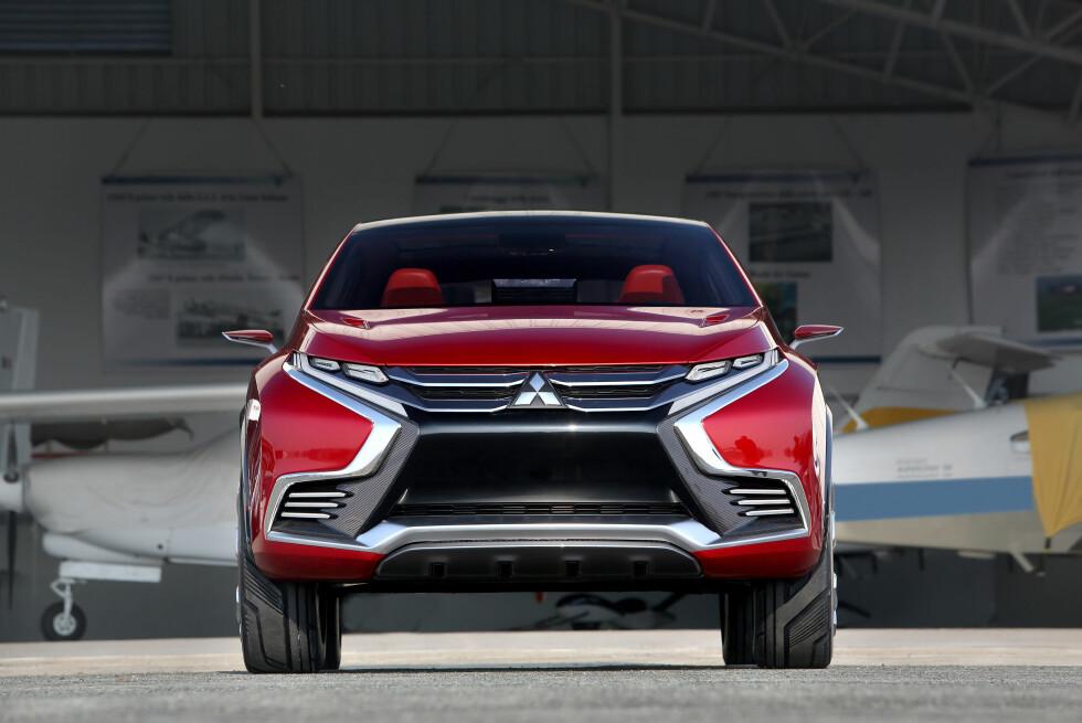 """""""SHOGUN-ANSIKT"""": I forbindelse med at såkalte teaser-bilder av denne ble vist i januar, lovte Mitsubishi at vi vil få se mer spennende design fra merket  Foto: MITSUBISHI"""