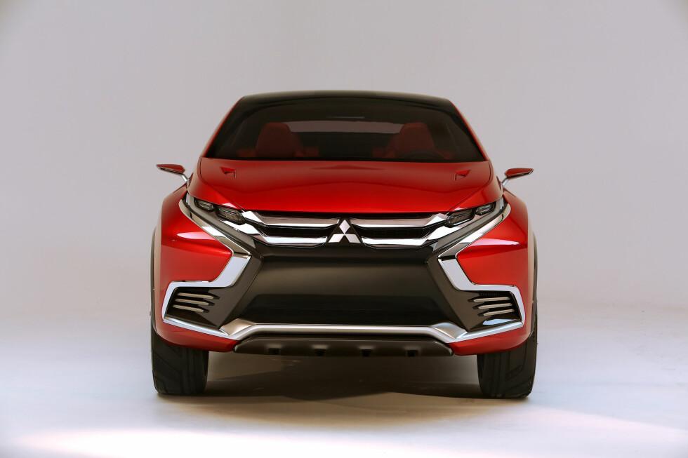 TØFFERE ENN FØR: I forbindelse med at såkalte teaser-bilder av denne ble vist i januar, lovte Mitsubishi at vi vil få se mer spennende design fra merket fremover. Foto: MITSUBISHI