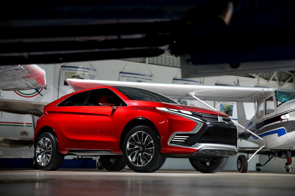 NESTE LADBARE: Det er ikke vi, men Mitsubishi-importøren, som indikerer at dette vil bli merkets neste ladbare hybrid i produksjon og etterfølgeren til dagens ASX.  Foto: MITSUBISHI