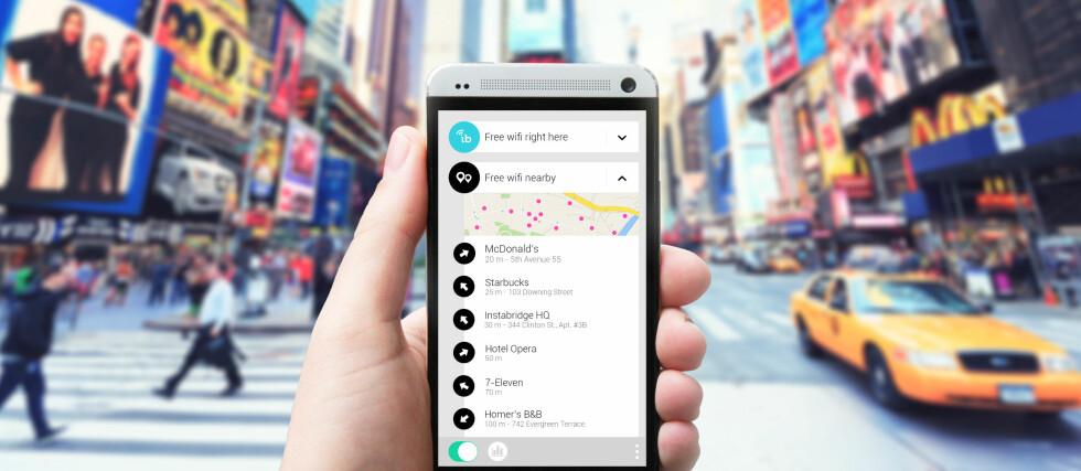 PÅ TUR? Denne appen inneholder over 3 millioner WiFi-passord slik at du kan koble deg til hvor enn du måtte befinne deg. Foto: INSTABRIDGE