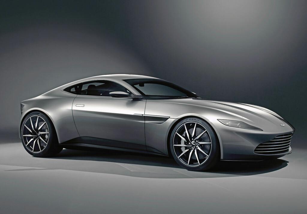 10 av 10: James Bond vil kjøre rundt i sin spesiallagde Aston Martin DB10. Den vil kun produseres i ti eksemplarer, og alle vil bli brukt i filmen. Foto: ASTON MARTIN