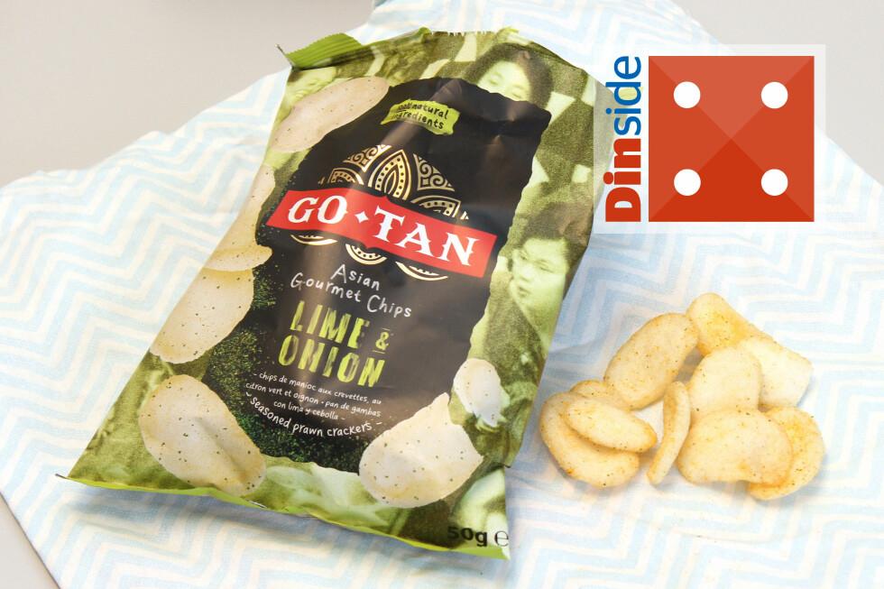 <strong><b>GO-TAN:</strong></b> 50 gram, 484 kcal og 13,7 gram salt per 100 gram vare. Foto: OLE PETTER BAUGERØD STOKKE