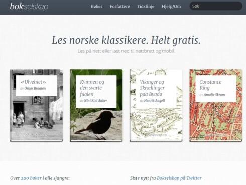 KLASSIKERE: Om du liker bøkene bestemor leste, får du dem gratis på Bokselskap.no. Foto: BOKSELSKAP.NO