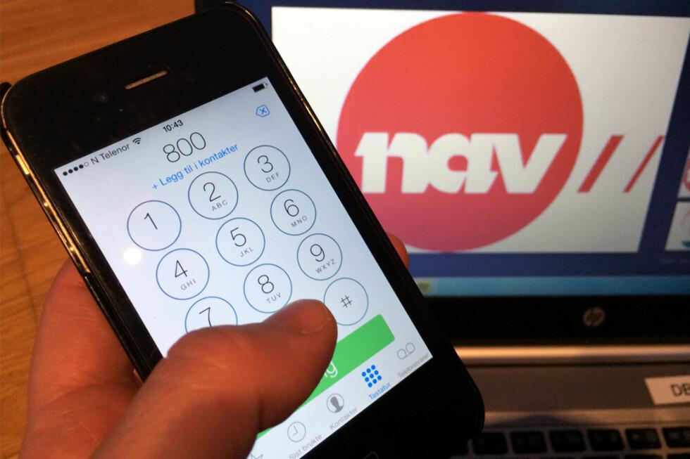 TELEFONKØ? Nå kan du enklere få svar fra Nav, uten å ringe.  Foto: BERIT B. NJARGA