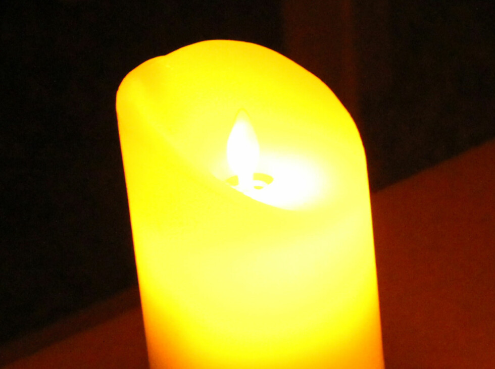 Led candle twinkle, fra Star Trading. Foto: KRISTIN SØRDAL