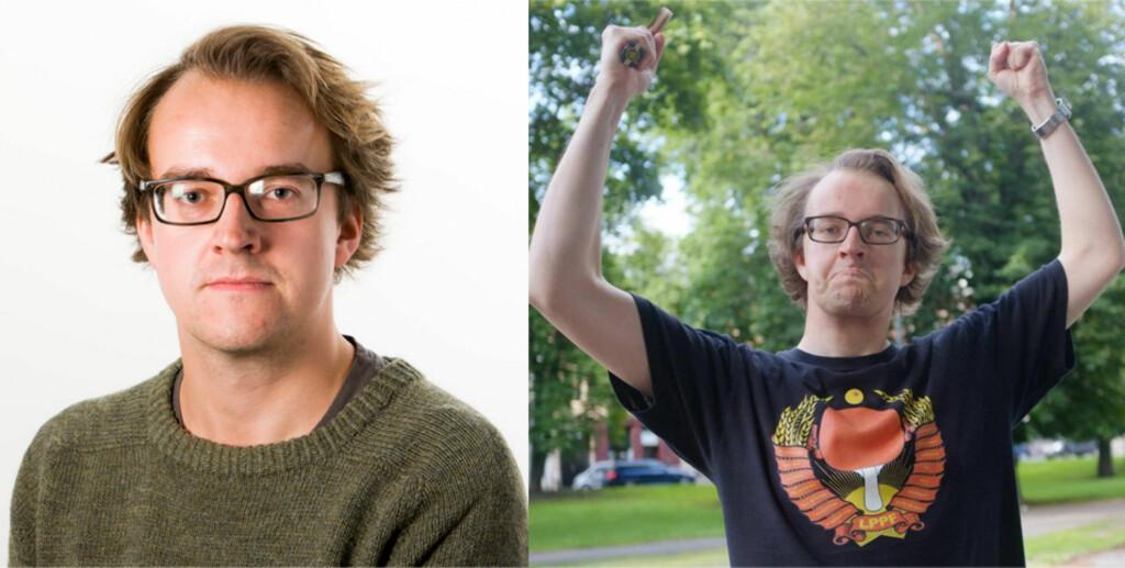 PROFIL-BILDE: Profilbildet på LinkedIn skal være seriøst, som bildet til venstre. Bildet til høyre er naturlig nok et dårlig eksempel på profilbilde du bør bruke på LinkedIn. Foto: OLE PETTER BEUGERØD STOKKE