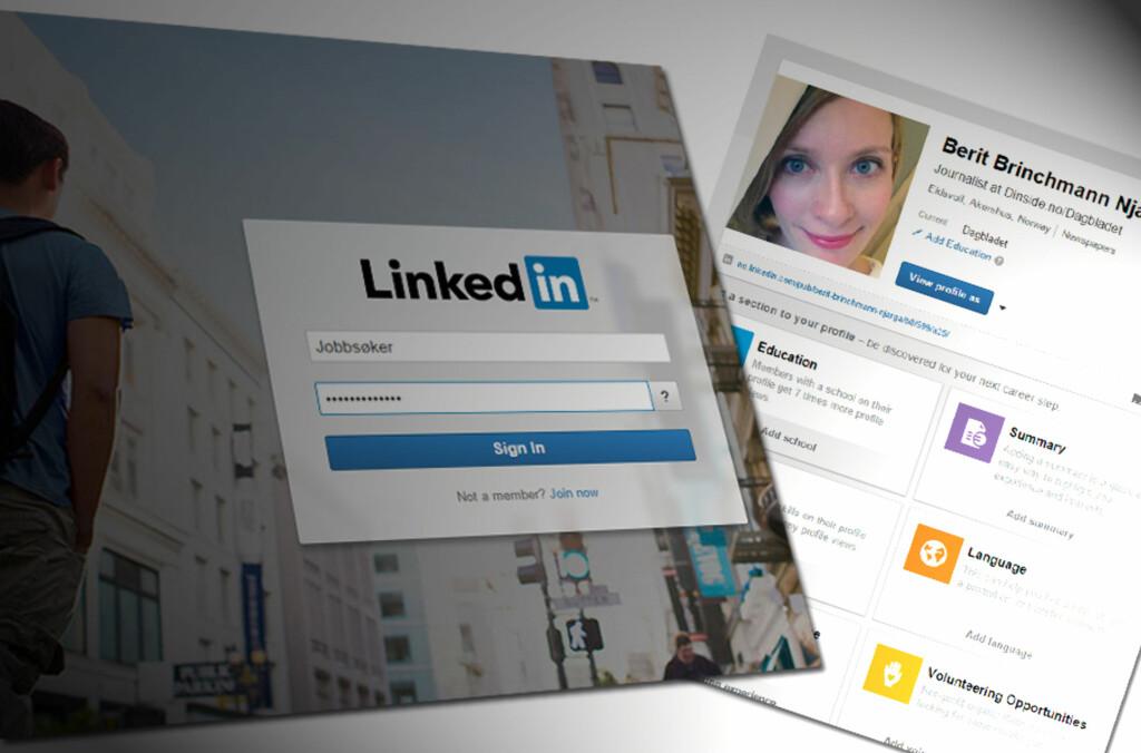 <b>PROFIL?</b> Det er ikke nok å ha en profil på LinkedIn, om den ikke er fullstendig med vesentlig informasjon om deg og din kompetanse. Foto: ILLUSTRASJON