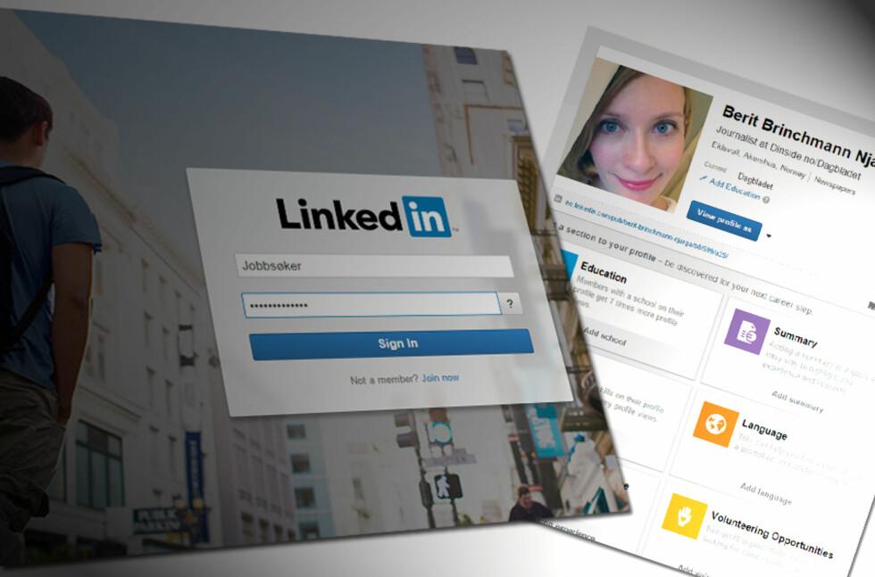 PROFIL? Det er ikke nok å ha en profil på LinkedIn, om den ikke er fullstendig med vesentlig informasjon om deg og din kompetanse. Foto: ILLUSTRASJON