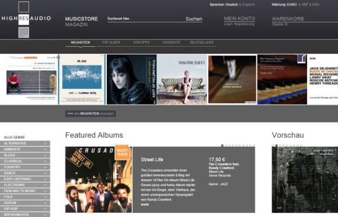 HD-MUSIKK: Utvalget av høyoppløst musikk på nettet øker stadig. Foto: HIGHRESAUDIO.COM