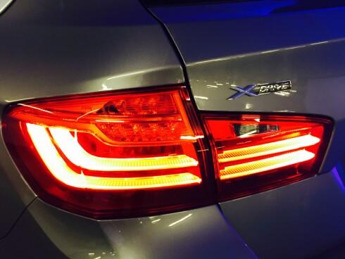 xDRIVE: Dette symbolet gir BMW 5-Serie enda tryggere kjøreegenskaper. Foto: ESPEN STENRUD