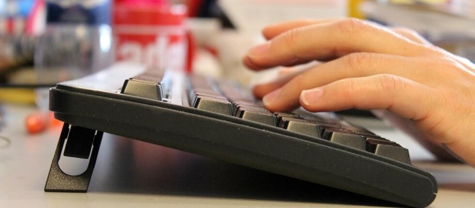 HVOR RASK ER DU? Denne nettjenesten er ypperlig for alle som vil skryte av eller forbedre sine prestasjoner på tastaturet... Foto: KIRSTI ØSTVANG