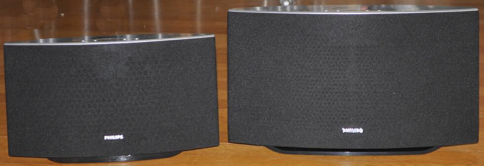 <strong><b>BRØDRE:</strong></b> SW700 (til venstre) og SW750 låter ganske likt, og prisforskjellen er bare 500 kroner. Romstørrelsen bør avgjøre hvilken du velger. Foto: TORE NESET