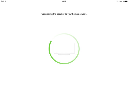 <strong><B>VENTER:</strong></B> Det tar sin tid før appen finner høyttalerne. Foto: TORE NESET