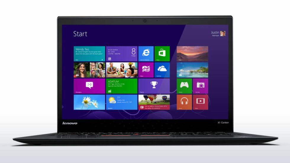 LETT: I følge Lenovo er ThinkPad X1 Carbon verdens letteste proffbærbare.