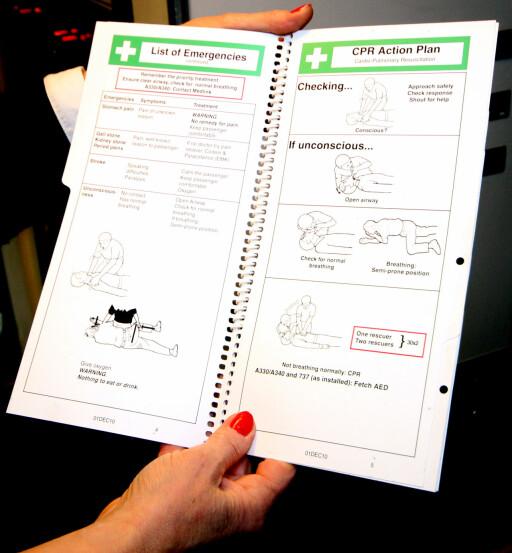 SJEKKLISTE: Sjekkliste for sykdomstilfeller.  Foto: KRISTIN SØRDAL