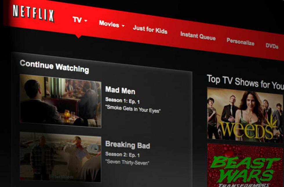BARE FOR AMERIKANERE Nordmenn som sniker seg til å se USA-utgaven av Netflix kan nå få seg en ubehagelig overraskelse. Foto: NETFLIX