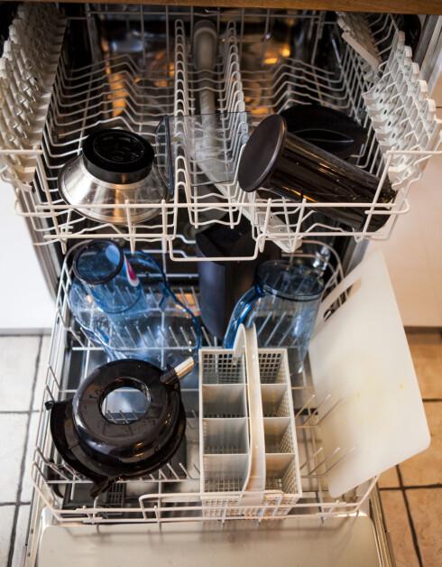 I MASKIN: Dette er noe av det viktigste vi sjekker når vi skal kjøpe nytt utstyr til kjøkkenet vårt. Foto: PER ERVLAND