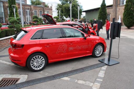 E-TRON: Audi satser også på ladbar hybrid - først ute er A3 Sportback e-tron Foto: KNUT MOBERG