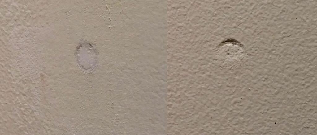 FEIL: Skraper du helt inn til veggen med sparkelen vil sparkelmassen synke og etterlate seg et krater. Det blir ikke pent. Foto: BRYNJULF BLIX
