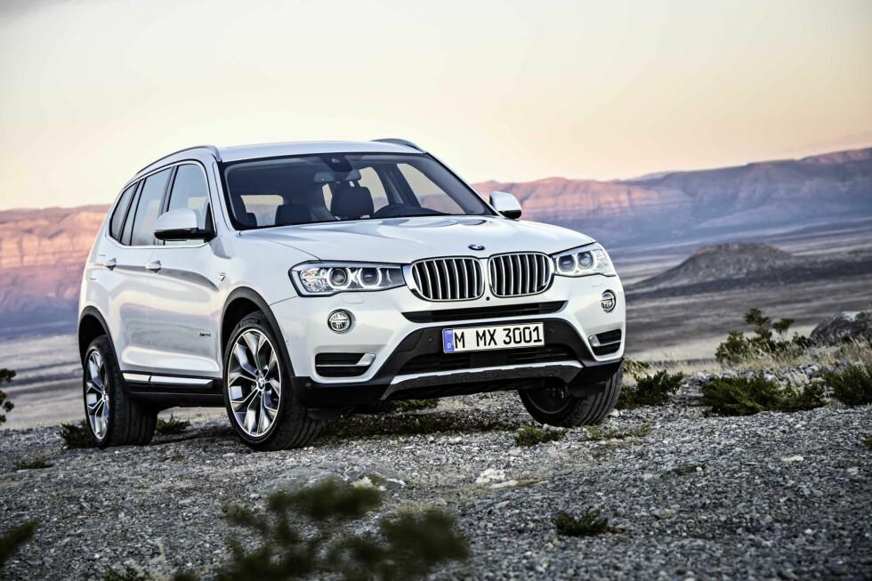 BMW X3: BMW er største bilmerke på 4x4 i Norge og X3 er storselgeren. Foto: BMW