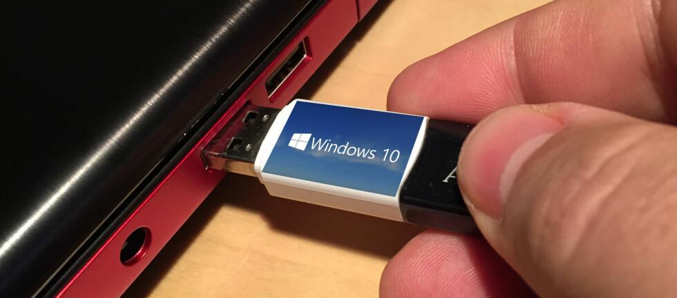 ENKELT: Ønsker du å bytte ut installasjons-DVD-en til Windows med en minneplugg? Det er svært enkelt med dette gratisverktøyet. Foto: BJØRN EIRIK LOFTÅS