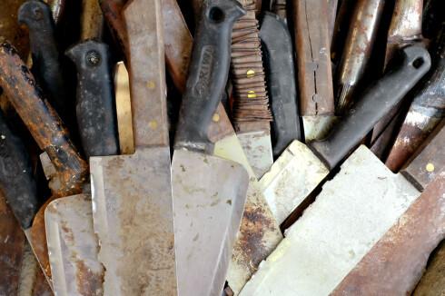Rust på rustfrie redskaper etter vask i oppvaskmaskin, kan unngås.  Foto: Colourbox.com