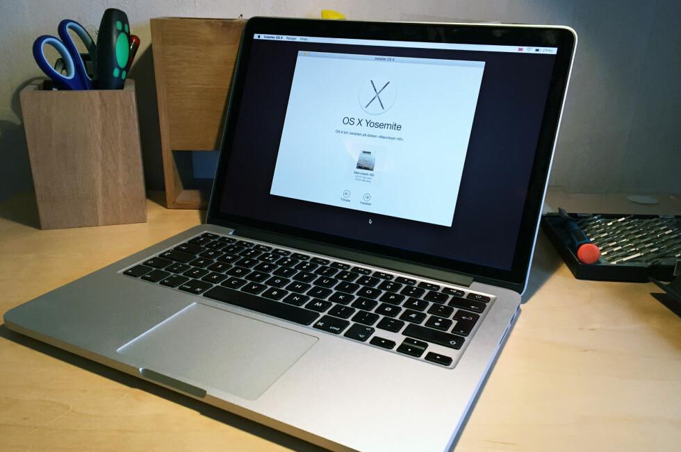 ATTRAKTIV: Har du en Mac liggende som du ikke bruker? Da er det greit å vite at den sannsynligvis er svært lettsolgt. Men husk å renske den før du legger den ut for salg. Foto: BJØRN EIRIK LOFTÅS