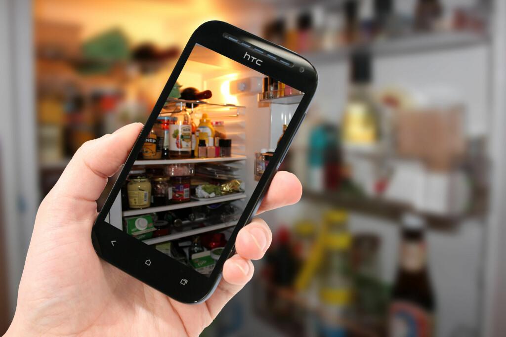 <b>TIPS:</b> Ta bilde av kjøleskapet før du går i butikken, så slipper du å handle dobbelt. Foto: ELISABETH DALSEG / OLE PETTER BAUGERØD STOKKE