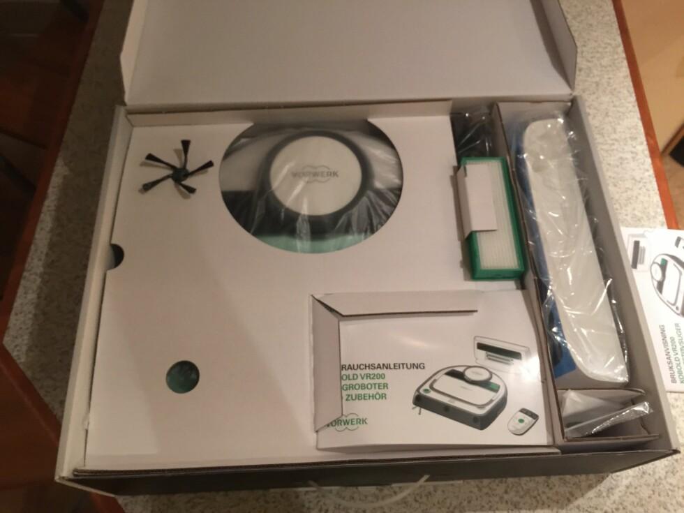 KOBOLD VR200: Enkel og grei innpakning, og det er enkelt å komme igang. Foto: ØYVIND PAULSEN