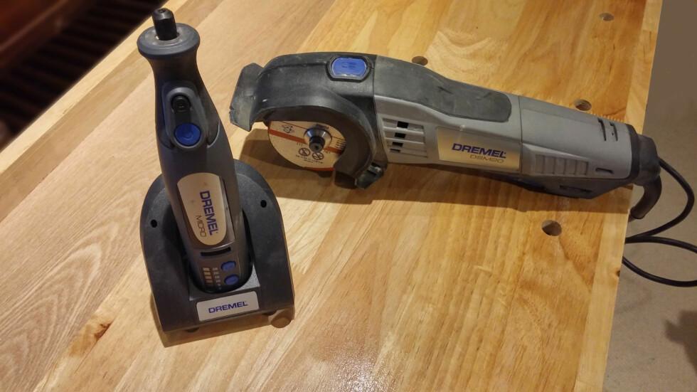 Dremel Micro for finarbeide, og DSM20 for saging og kapping i de fleste materialer. Foto: BRYNJULF BLIX
