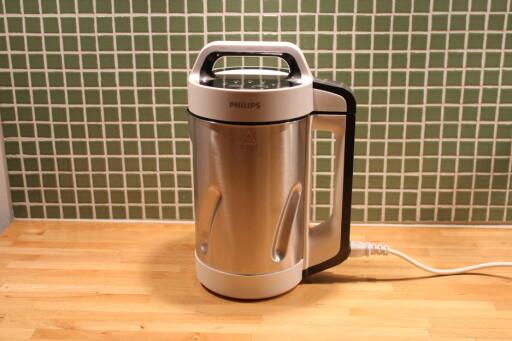 KJAPPMAT: Ha ingrediensene i suppemaskinen, den fikser resten. Foto: ELISABETH DALSEG