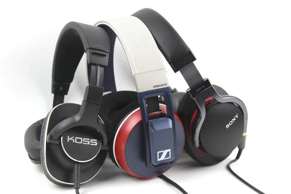 Koss, Sennheiser og Sony er alle kjente hodetelefonprodusenter. Hvordan står de seg mot hverandre? Foto: OLE PETTER BAUGERØD STOKKE