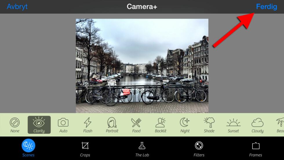 #7: Gjør du det, får du tilgang til enda flere bilderedigeringsverktøy og -muligheter. Foto: KIRSTI ØSTVANG