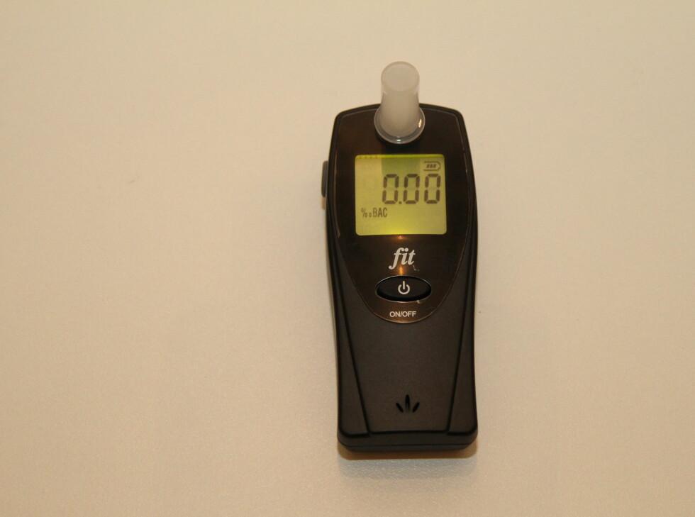 HAMRON FIT: Alko-måleren fra Jula er tregest ved måling. Den trenger 25 sekunder for klargjøring. Foto: KNUT ARNE MARCUSSEN