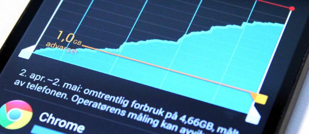 <strong>REKORD:</strong> I år ser det ut til at nordmenn for første gang sender flere enn 5 millarder SMS, men når det gjelder databruk er vi langt bak våre naboland. Foto: OLE PETTER BAUGERØD STOKKE