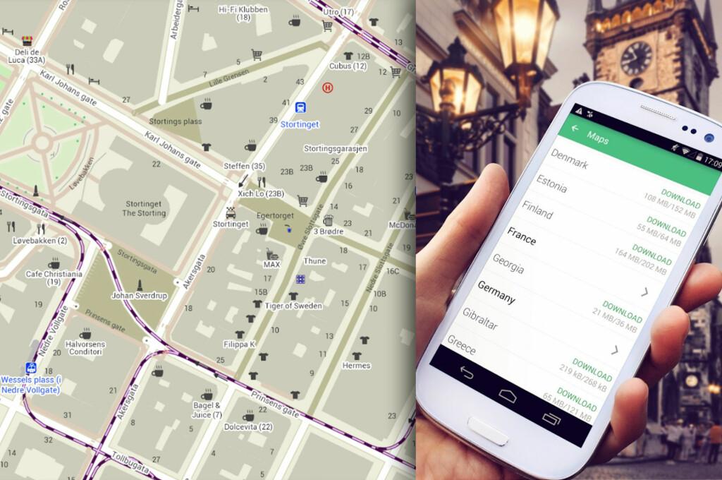 <strong>GRATIS:</strong> Nå kan du få alle verdens kart lagret på telefonen din så du slipper å bruke datatrafikk i utlandet. Foto: PÅL JOAKIM OLSEN