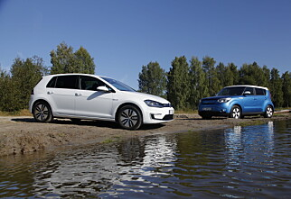 Elbil-duellen: VW e-Golf vs. Kia Soul EV