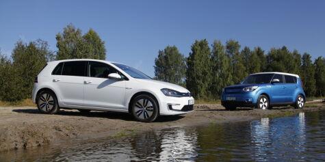 image: Elbil-duellen: VW e-Golf vs. Kia Soul EV
