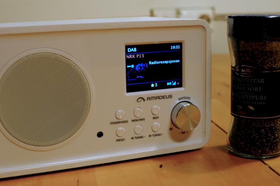 <strong><b>PERFEKT PÅ KJØKKENET:</strong></b> Nettradio, DAB, DAB+ eller FM til matlagingen? Amadeus stiller opp. Foto: TORE NESET