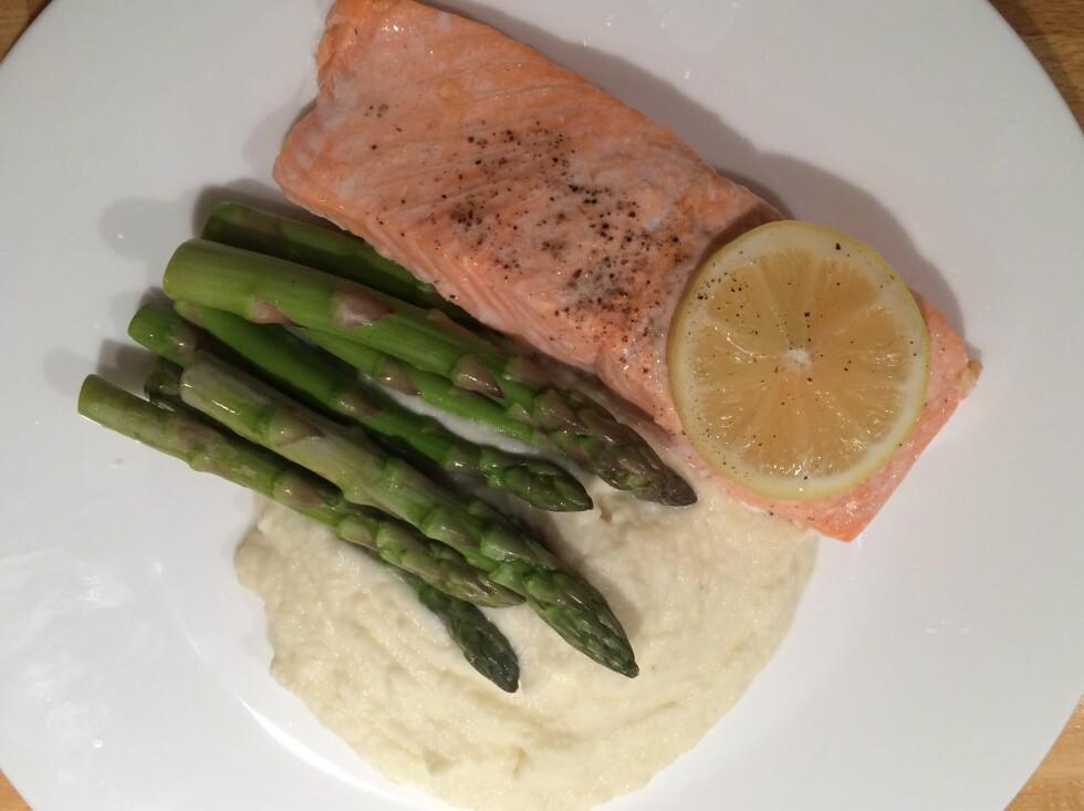 SERVERT: Enkel, sunn og ikke minst kjapp middag, der alt er laget i Thermomixen. Foto: ELISABETH DALSEG