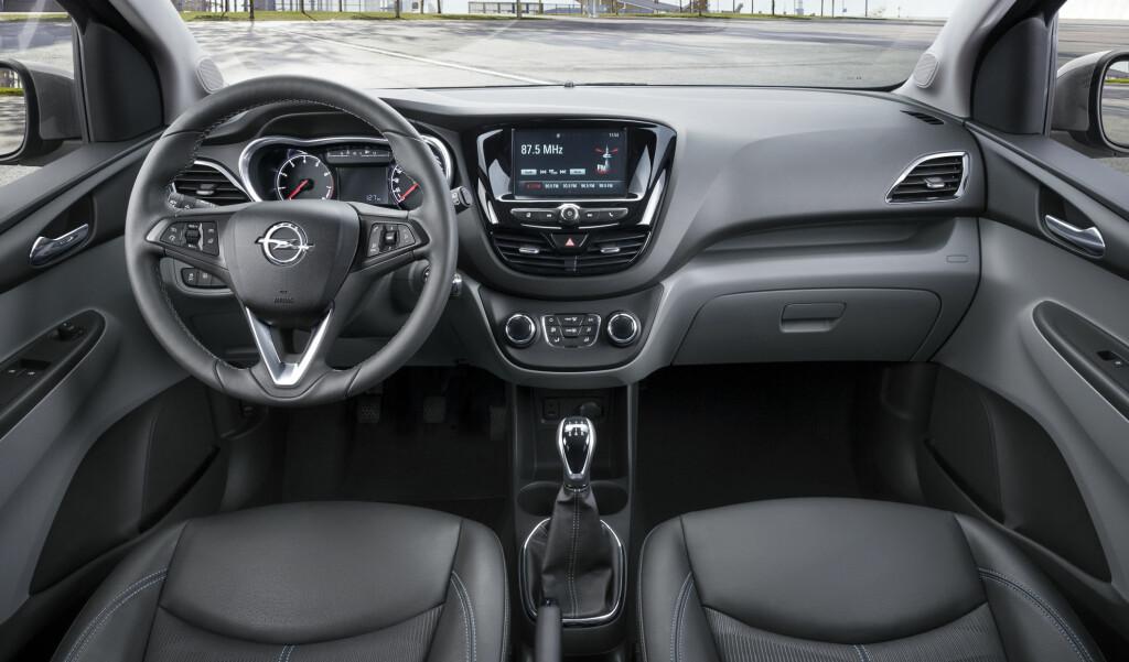 VOKSEN: Ifølge Opel har lille Karl utstyr man vanligvis forbinder med større og dyrere biler. Foto: OPEL