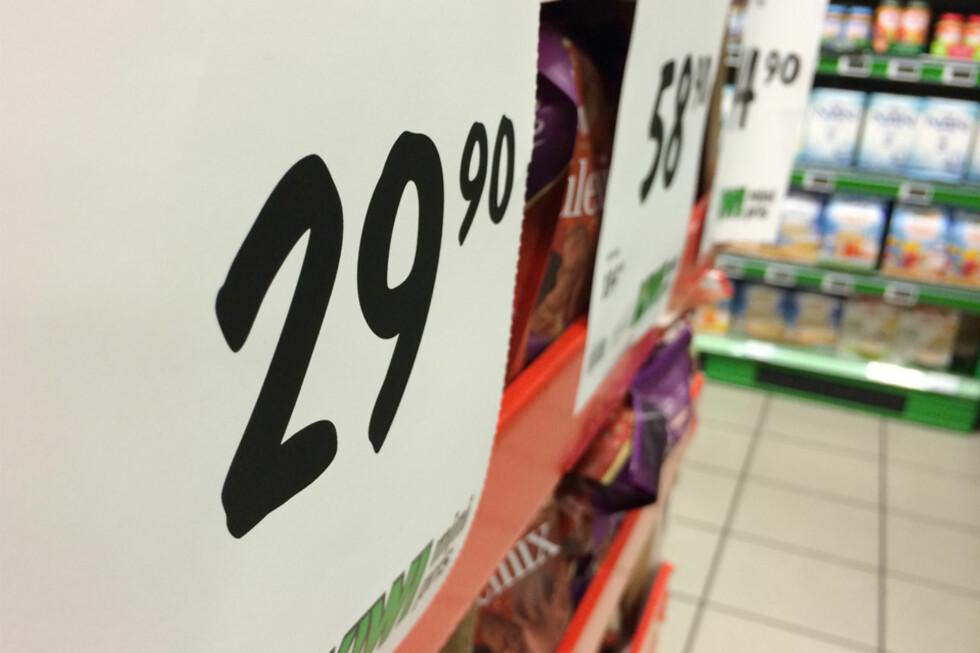 FEIL PRIS? Hvis butikken oppgir feil pris, er det et brudd på loven, men du kan likevel ikke kreve å få betale denne prisen for varen. Foto: BERIT B. NJARGA