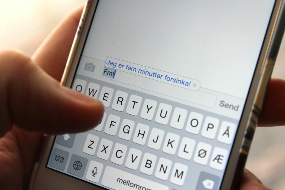 EFFEKTIVT: Tastatursnarveier er en smart måte å skrive kjappere på mobilen. Foto: KIRSTI ØSTVANG