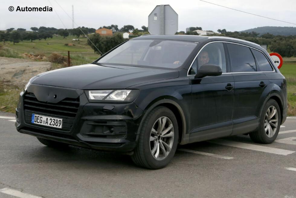 OVERRASKER IKKE: Neste Audi Q7 har ikke de nye linjene vi viste med bildene av Audi Prologue. Foto: AUTOMEDIA